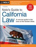 Nolo s Guide to California Law
