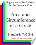 Ccss 7 G B 4 Area And Circumference Of A Circle