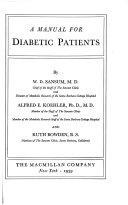 A Manual for Diabetic Patients