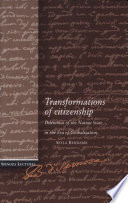 Transformations of Citizenship