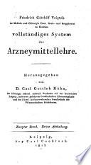 Vollständiges System der Arzneimittellehre