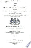 Laws of the Colony of Southern Nigeria