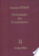 Dictionnaire des pseudonymes