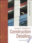 Architect s Handbook of Construction Detailing