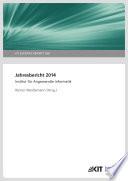 Jahresbericht 2014 / Institut fuer Angewandte Informatik