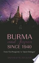 Burma and Japan Since 1940