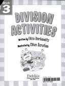 Division Activities Grade 3 Flash Skills  book