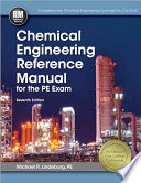 Chemical Engineering Reference Manual for the PE Exam  Seventh Edition