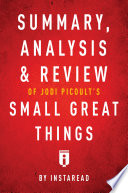 Summary Analysis Review Of Jodi Picoult S Small Great Things By Instaread