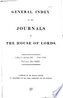 Journals Of The House Of Lords book