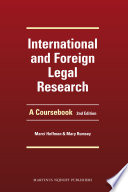 International and Foreign Legal Research