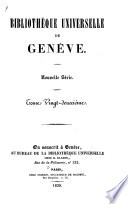 Biblioth  que universelle de Gen  ve