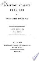 Scrittori Classici Italiani Di Economia Politica