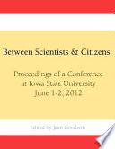 Between Scientists   Citizens