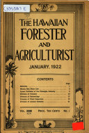 The Hawaiian Forester and Agriculturist