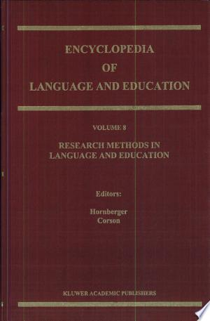 Research Methods in Language and Education: 8 - ISBN:9780792349358