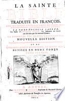 La sainte bible trad. en francois avec des notes litterales tirees des saints peres, etc
