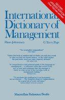 download ebook international dictionary of management pdf epub