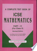 ICSE Mathematics Part 2 for Class X