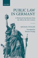 Public Law in Germany