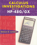 Calculus Investigations With The Hp 48g Gx