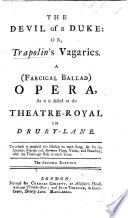 The Devil Of A Duke Or Trapolin S Vagaries The Second Edition