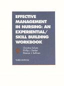 Nursing Management: An Experiential/Skill Building Workbook