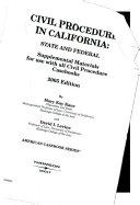 Civil Procedure in California  2005