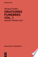 Orationes funebres. Volumen 1
