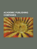 Academic Publishing Companies book