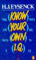 Know Your Own I  Q