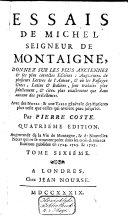 Les Essais, 4 tomes