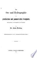 Die oro- und hydrographie der preussischen und pommerschen seenplatte