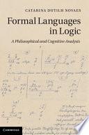 Formal Languages in Logic