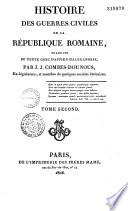 Histoire des guerres civiles de la R  publique Romaine