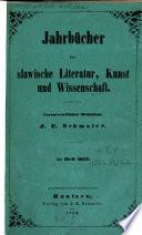 Jahrb  cher f  r slavische Literatur  Kunst und Wissenschaft