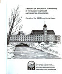 download ebook a report on biological conditions in the blackstone river and selected tributaries pdf epub