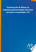 Verordnung über die Bildung von Konjunkturausgleichsrücklagen durch Bund und Länder im Haushaltsjahr 1970