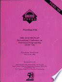 Proceedings of the 1996 ACM SIGPLAN International Conference on Functional Programming  ICFP  96   Philadelphia  Pennsylvania  May 24 26  1996