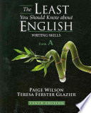 The Least You Should Know about English  Writing Skills  Form A