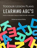 Toddler Lesson Plans Learning Abc S