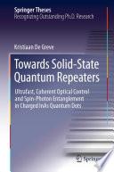 Towards Solid State Quantum Repeaters
