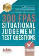 300 Fpas Situational Judgement Test Questions