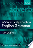 A Semantic Approach to English Grammar