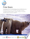 Polar Bears  Proceedings of the 15th Working Meeting of the Iucn Ssc Polar Bear Specialist Group  Copenhagen  Denmark  29 June 3 Ju
