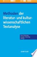 Methoden der literatur- und kulturwissenschaftlichen Textanalyse