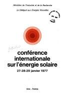 Conf  rence internationale sur l   nergie solaire