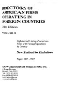 Directory of American Firms Operating in Foreign Countries