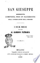 San Giuseppe Opertta Composta per un Sacerdote della Congregazione della Missione