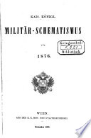 Kais. königl. Militär-Schematismus